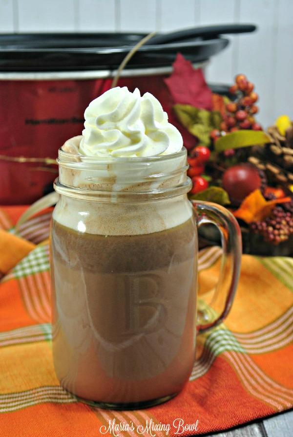 slow cooker pumpkin hot cocoa