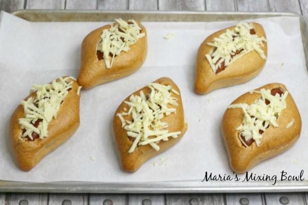 Cheesy Nacho hot dogs