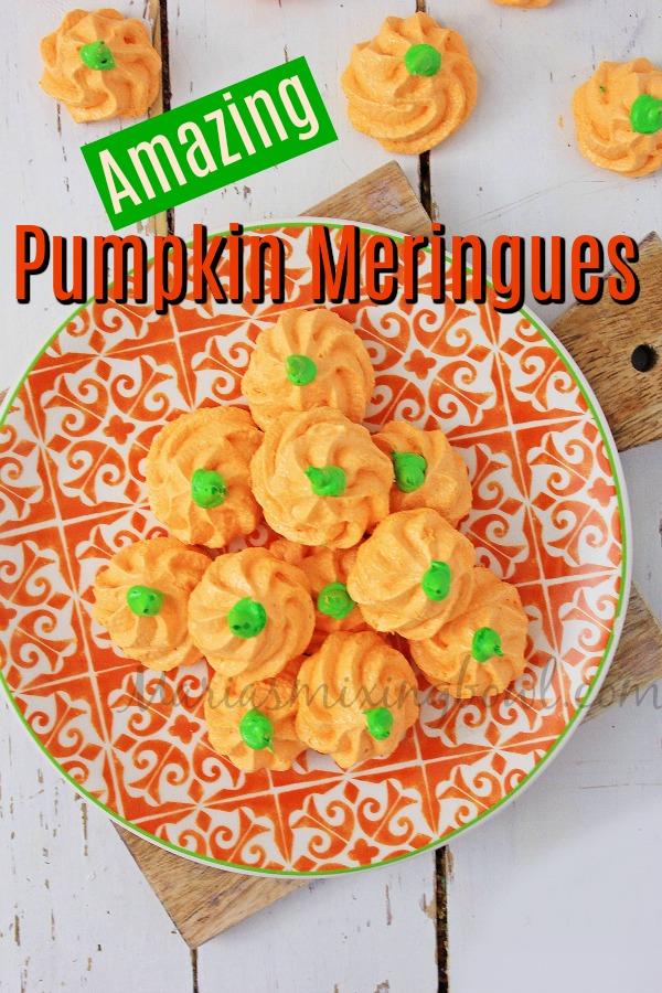 Pumpkin Meringues Cookies