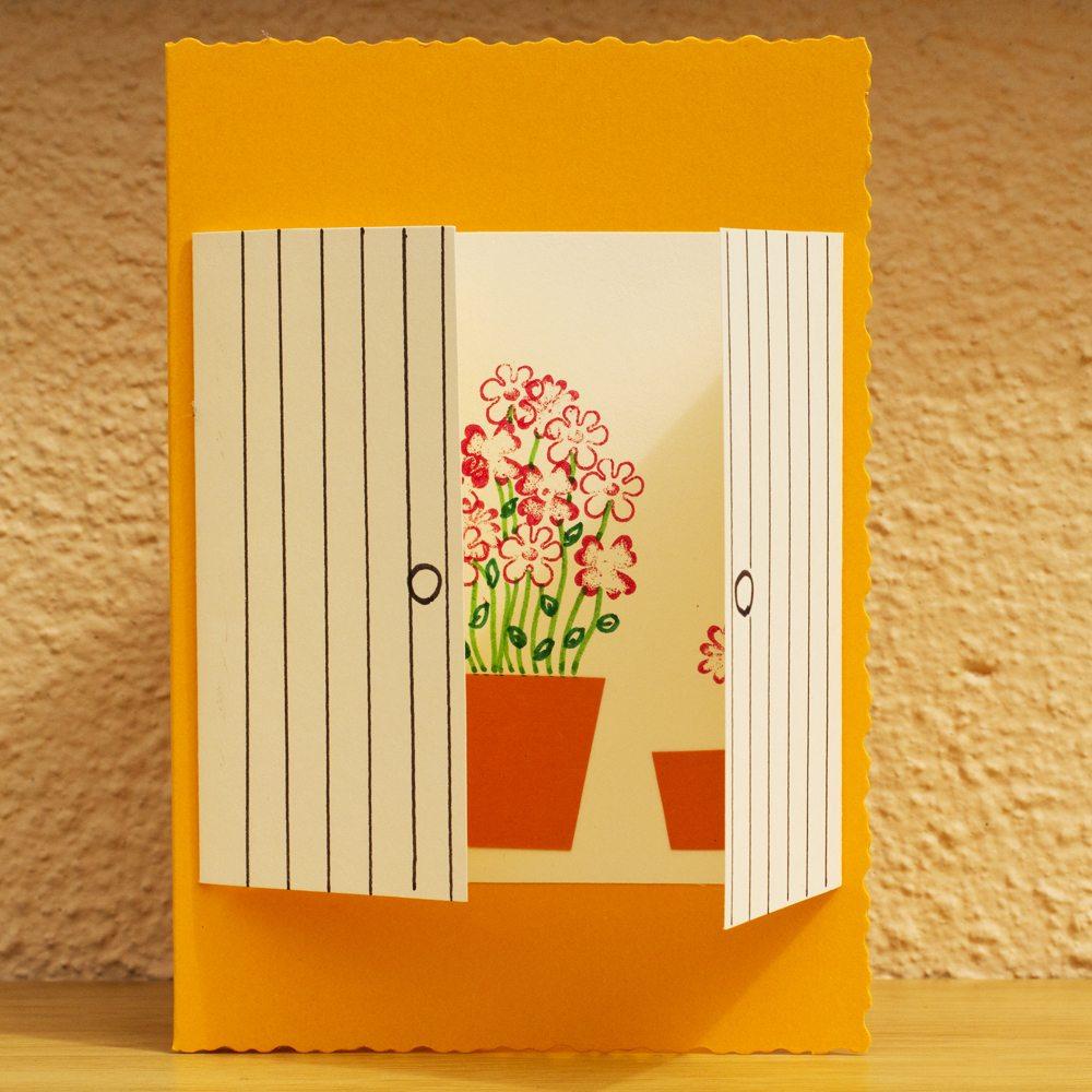 Window Greeting Card Marias Place