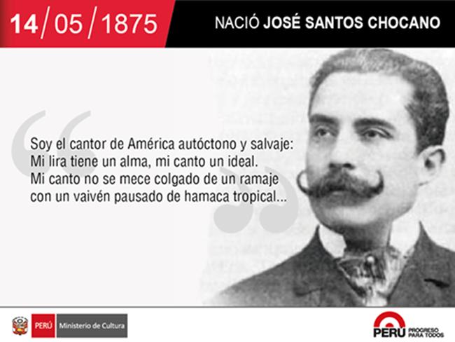 Nació José Santos Chocano