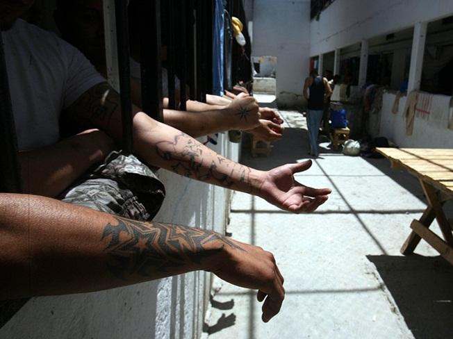 """Aspecto del Cereso de Ciudad Juáres Chi. en la zona de los """"Artistas Asesinos"""" Foto: Germán Canseco"""