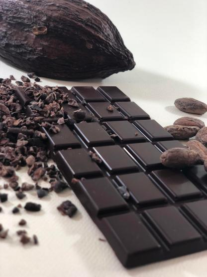 Craft chocolate bar made from the bean-to-bar process