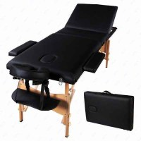 T2OW-Portable-Massage Table Bed Tattoo with Free Carry Case Black