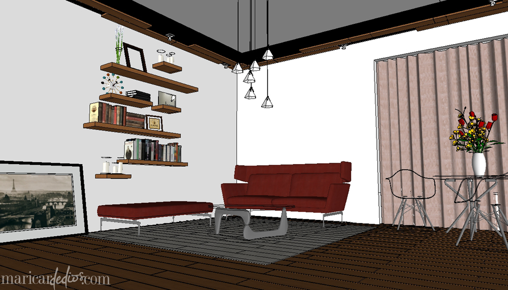 VRAY For SKETCHUP: Before. In-between. After.