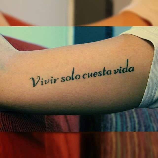 Tatouage Phrase Espagnol