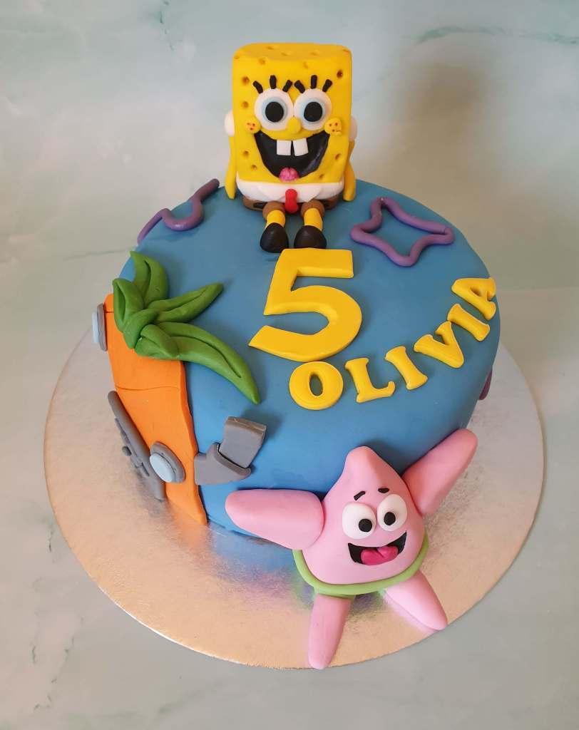 Spongebob Squarepants Childrens Birthday Cake Marie Makes