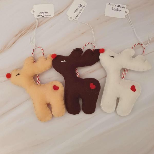 Felt Reindeer Christmas Tree Decorations Marie Makes Milton Keynes