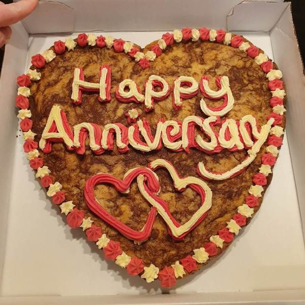 Personalised Giant Anniversary Celebration Cookie