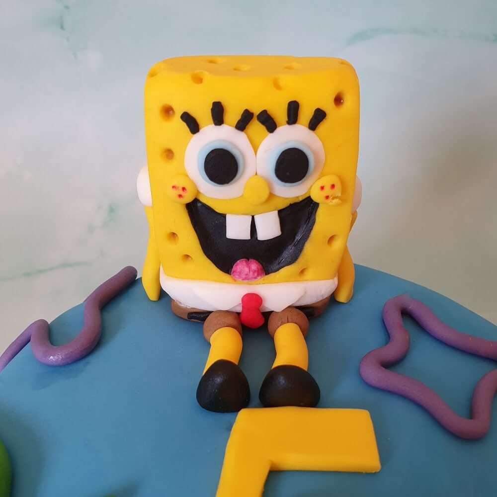 Spongebob children's personalised birthday cake topper