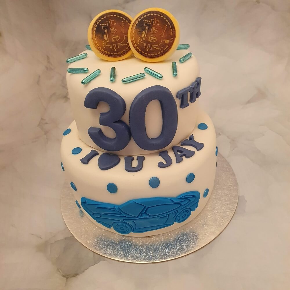 Bitcoin 30th birthday cake delivered in Milton Keynes