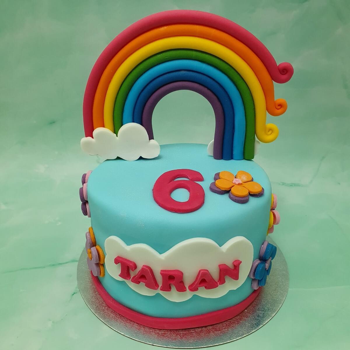 Rainbow Children's Birthday Cake Delivered Milton Keynes