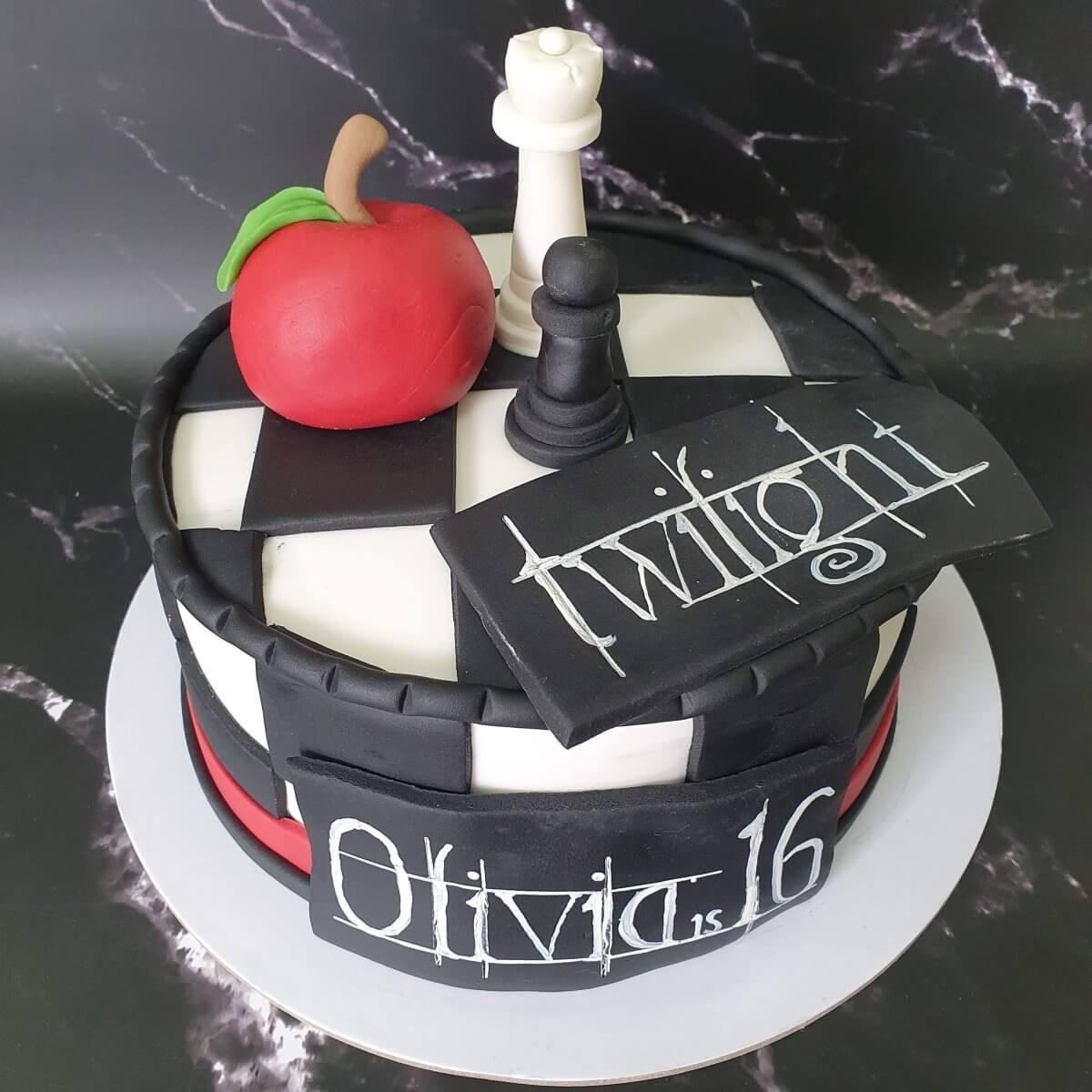 Twilight Birthday Cake Delivered Milton Keynes Cake Maker