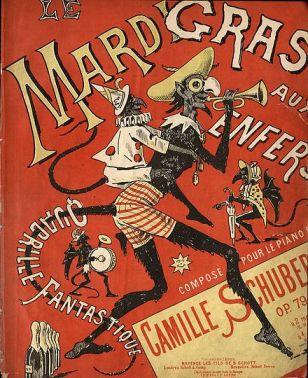 Partition du quadrille Le Mardi gras aux enfers de Camille Schubert, 1910