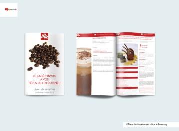 Mise en page d'un livret de recettes pour Illy