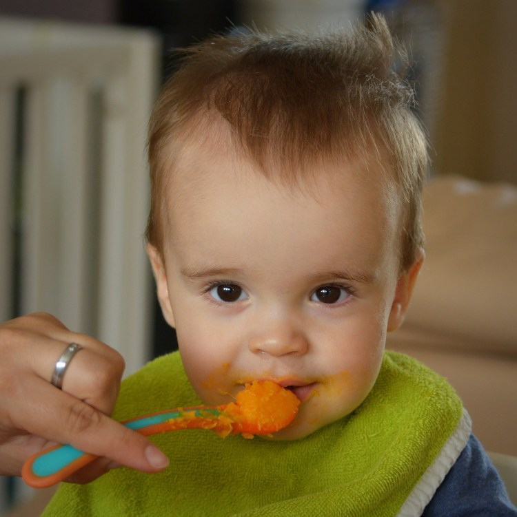 Listen to baby's message about when to introduce solids.