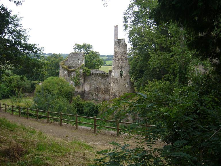 Ruines_du_château_ Lire de_Joachim_du_Bellay