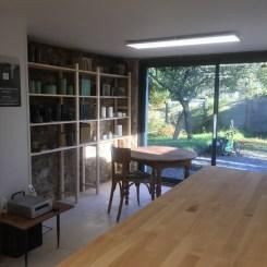 L'atelier, vue sur l'espace exposition de mes pièces