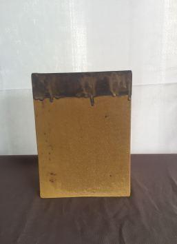 grand vase rectangulaire, grès