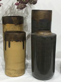paires de vases ocres et perles, mariecarolinelemansceramique