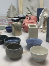 réalisations des élèves du cours de poterie