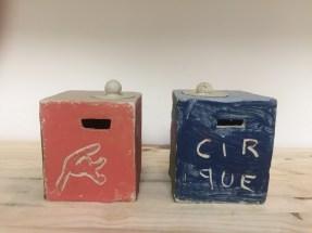 tirelires1. stage de poterie enfants, mariecarolinelemansceramique