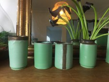 vases et pots, colletion vert antique, mariecarolinelemansceramique