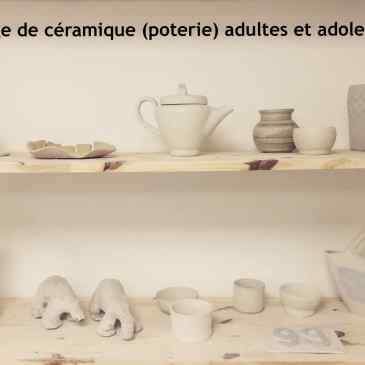 Stage de poterie pendant les vacances de Pâques