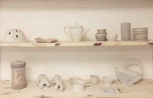 objets réalises en stage de poterie adultes
