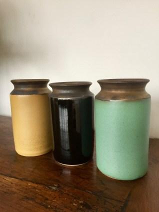 3petits vases àcol. MCL Céramique