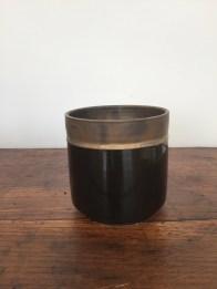 petit pot orchidée, noir, mclceramique