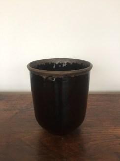 vase pot, noir, mclceramique