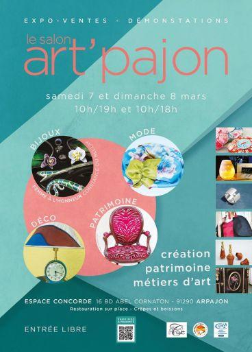 art'pajon, le salon des métiers d'art, 7-8 mars 2020. espace Concorde à Arpajon