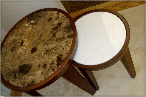 Flexform marble nest of tables at Marie Charnley Interiors