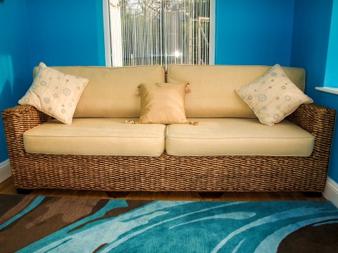 Re-upholstered Sofa at Marie Charnley Interiors
