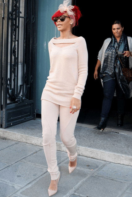 Rihanna out and about in Paris - Everyone's Wearing Nude, Marie Claire