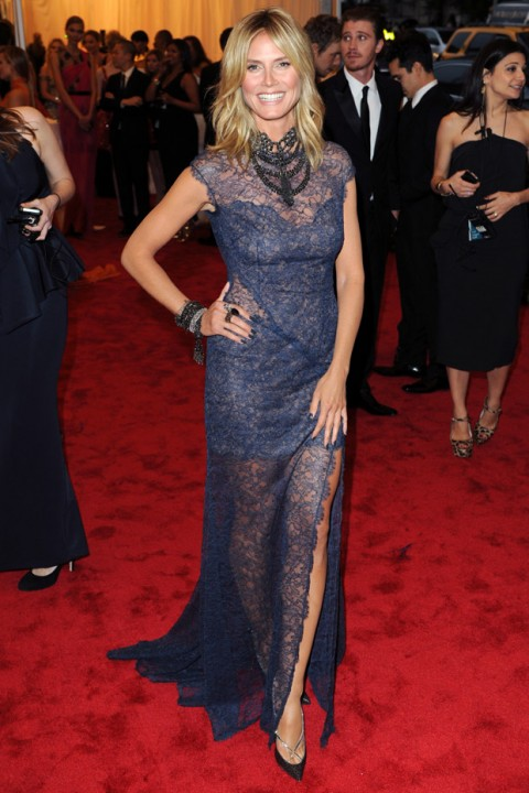 Heidi Klum at the Met Ball 2012 - Costume Institute Gala - Marie Claire