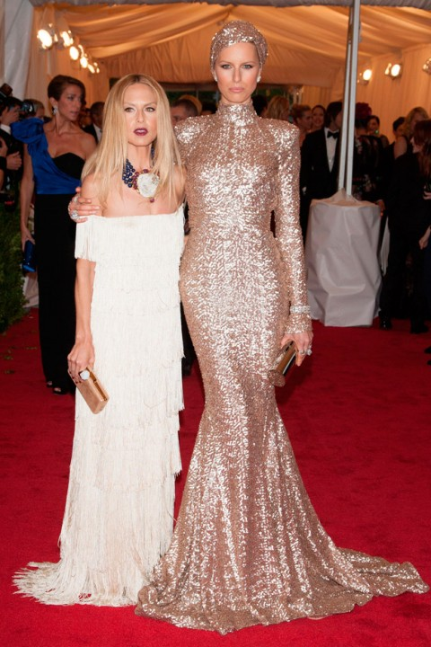 Rachel Zoe & Karolina Kurkova at the Met Ball 2012 - Costume Institute Gala - Marie Claire