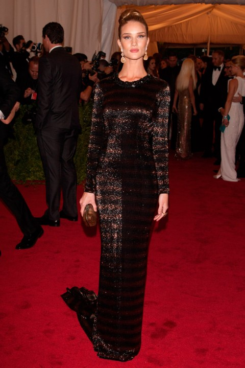 Rosie Huntington-Whiteley at the Met Ball 2012 - Costume Institute Gala - Marie Claire