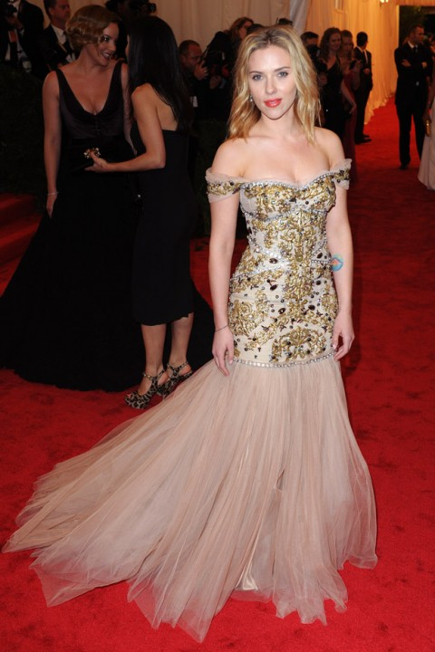 Scarlett Johansson at the Met Ball 2012 - Costume Institute Gala - Marie Claire