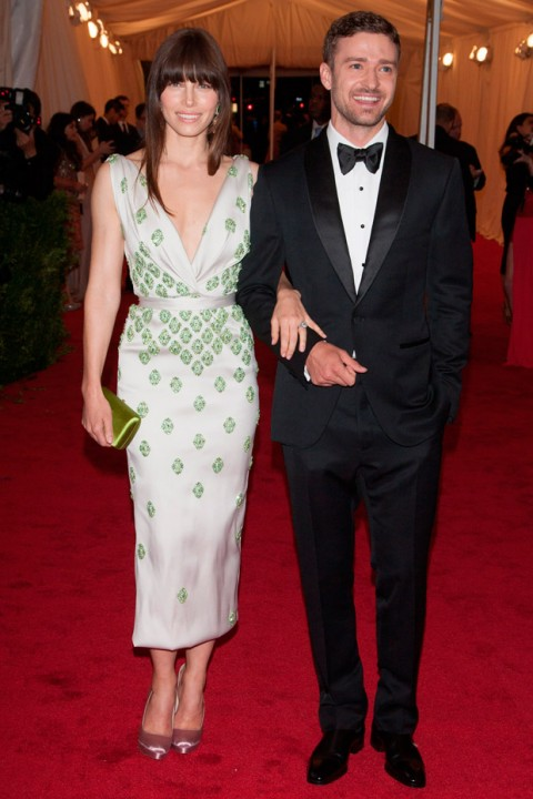 Justin Timberlake & Jessica Biel at the Met Ball 2012 - Costume Institute Gala