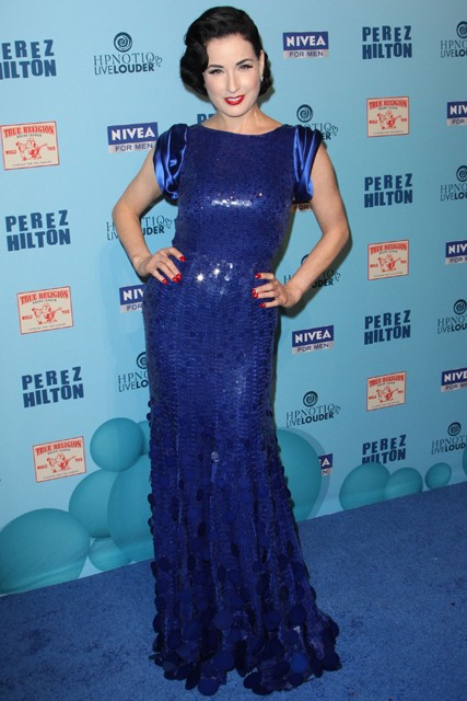 Dita Von Teese - everyone's wearing Jenny Packham