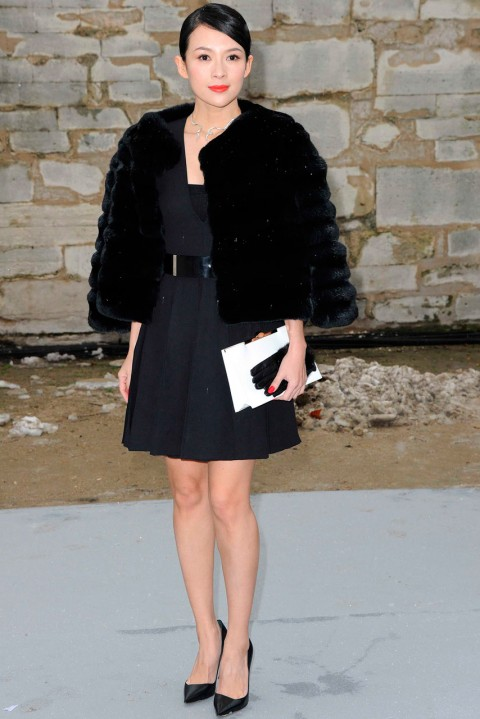 Zhang Ziyi at Couture Fashion Week spring/summer 2013 in Paris