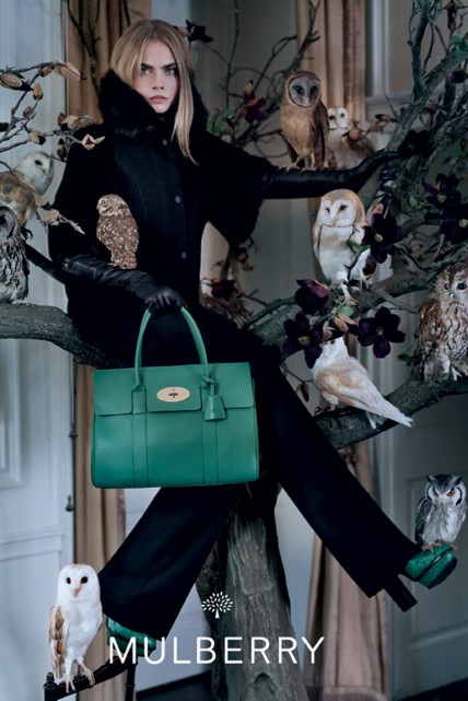 Cara Delevingne stars in Mulberry's autumn/winter 2013 campaign