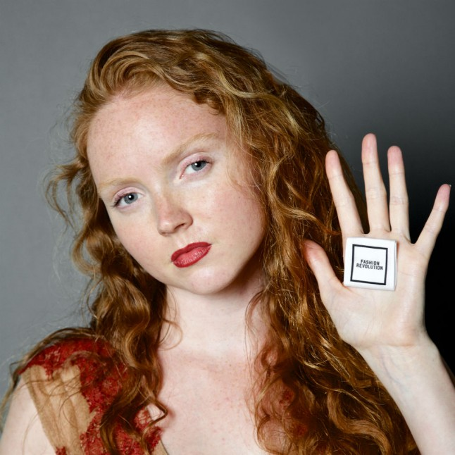 Lily Cole for Fashion Revolution Day