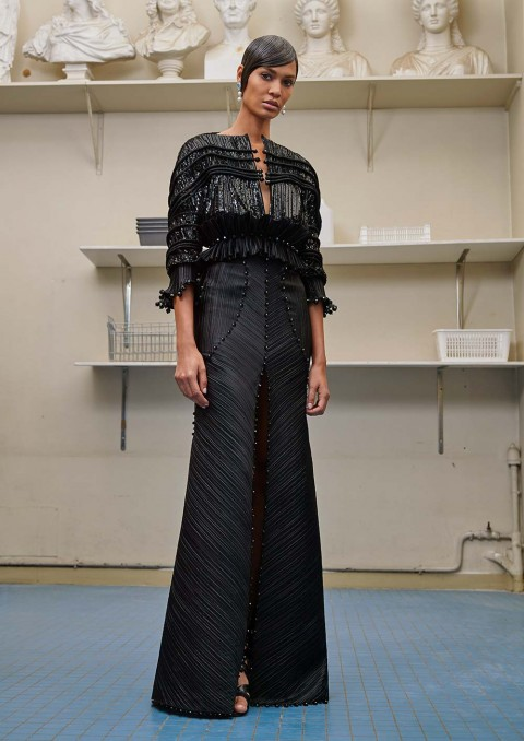 Joan Smalls, Givenchy Haute Couture by Riccardo Tisci AW16