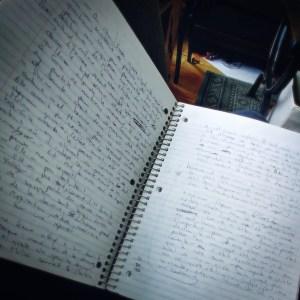 cahier spirale outil écrivain note cadeau