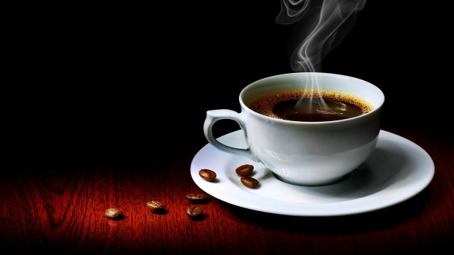 image of steaming cup of coffee