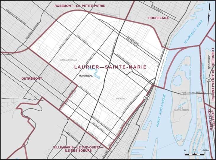 Carte de Laurier-Sainte-Marie