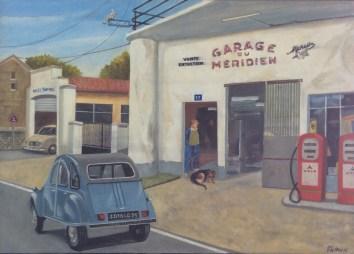 Garage du Méridien - 70x52cm